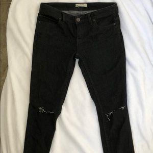 Free People size 28 black jeans